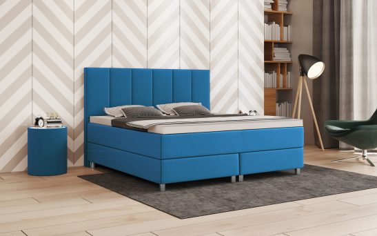 Boxspringbetten in Blau